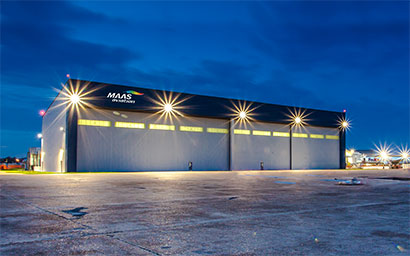 MAAS Aviation is delighted to announce entry into service of its new MRO paintshop at Brookley Field, Mobile, AL